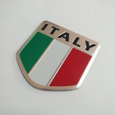 3D Metal Aluminum alloy Italy Flag Badge Car Emblem Decal Sticker logo Auto