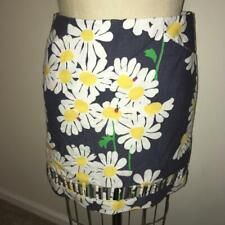 Lilly Pulitzer Blue & White Daisy Floral & Ladybug Print Cut-Out Mini Skirt  4