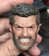 Eleven 1/6 Scale Angry Logan Head Sculpt For Hot Toys Figure Body