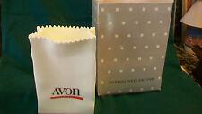 Avon White Ceramic Delivery Bag Vase from 1986