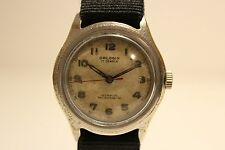 """VINTAGE EARLY RARE COLLECTIBLE ISRAEL MILITARY MEN'S MECHANICAL WATCH""""ORLOGIN"""""""