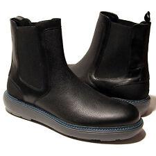 Ferragamo STORM Black Dress Men's Leather Ankle Pull-on 5.5 EE 38.5 Boots 6 39