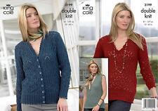 King Cole 3199 Knitting Pattern Sweater, Vest Top & Cardigan in Baby Alpaca DK