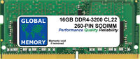 16GB (1x16GB) DDR4 3200MHz PC4-25600 260-PIN SODIMM MEMORY FOR LAPTOPS/NOTEBOOKS