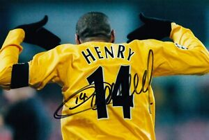SALE THIERRY HENRY ARSENAL HAND SIGNED PHOTO AUTHENTIC + COA - 12x8