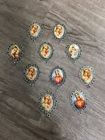 SALE!!!! CATHOLIC ROSARY PARTS LOT 10 Pc  Mother Mary Centerpiece **USA SELLER**