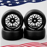 PP0072+PP0370 4Pcs Drift Tire /&12mm Hex Wheel Rim For HPI HSP RC On-Road Car