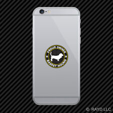 Proud Owner Basset Hound Cell Phone Sticker Mobile Die Cut