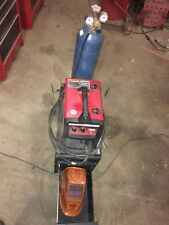 140 HD Lincoln Mig Welder With Cart #4 Argon Tank Helmet Gloves