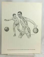 Bob Cousey 60s 7x9 Print Robert Riger Drawing Equitable Life Society NBA Celtics