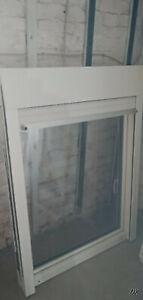 Einflügliges Kunstofffenster 3 fach Verglasung mit Rolladenkasten,gebraucht!