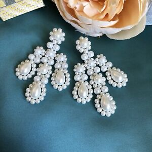 Simone Rocha Style Chandelier Pearl Earrings