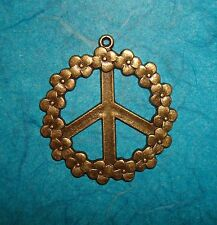Pendant Peace Sign Sign Language Charm World Peace Symbolism Charm Bronze Charm