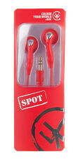Red Earphones New Spot Cute Red Works with Nintendo DS Switch MP3 RRP £7.99