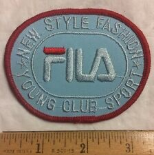 FILA Sportswear Italy New York Clothing Company Embroidered Patch