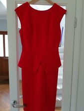 Ted Baker Striking Red Dress Size 2 Wedding/Races