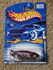 2001 Hot Wheels #124 Purple Lamborghini Diablo 3 Spoke Wheels NIP