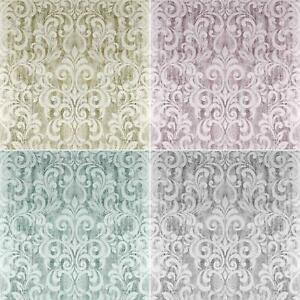 Mara Damask Various Colours Wallpaper Foil Textured Heavyweight Vinyl Washable