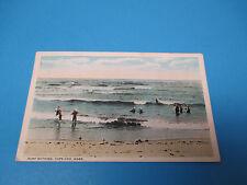 Surf Bathing Capecod Mass 1922 Postmarked Vintage Color Postcard PC27