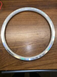 """Brompton 16 x 1 3/8"""" double wall Angle drilled wheel rim, 28 hole NOS"""
