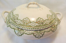 Henry Alcock & Co England Semi Porcelain EROS Round Covered Serving Bowl