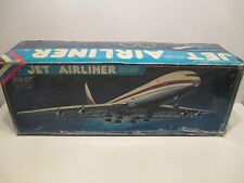 """RED CHINA JET AIRLINER BATTERY OPERATED NEAR MINT IN BOX LARGE 18"""" WING SPAN"""