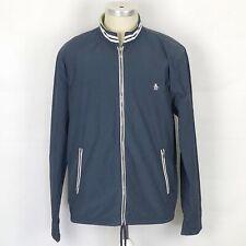 ORIGINAL PENGUIN Lightweight Zip Jacket Size XL Men's In Blue Long Sleeve
