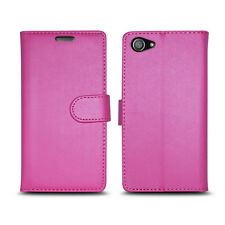 Plain Pink Leather Wallet Book Protect Case for HTC Desire 530 820 U11 & One X10 Vodafone Smart First 7