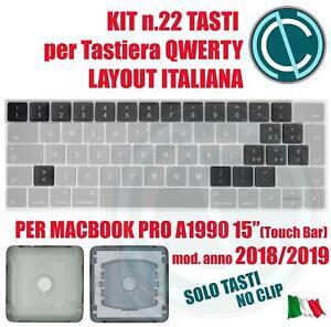 SET KIT TASTI CONVERSIONE TASTIERA ITALIANA ITA APPLE MACBOOK PRO A1990 15 18 19
