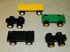 LEGO vehicle bases x5 for car truck lorry wheels base city [ref.2+2+1] *