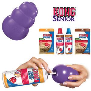 KONG Senior Purple Dog Toy Teething Chew Snack Easy Treat Dispenser Paste
