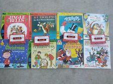 Disney Vintage Christmas Read Along Books. Lot of 8.