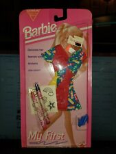 Mattel Vintage '93 Barbie My First Color Barbie Fashion Clothes w/ Crayons Shoes