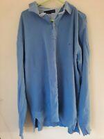 Vintage Tommy Hilfiger Long Sleeve Polo Shirt blue Mens size  XL