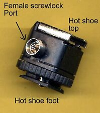 Nikon Screwlock  PC Female Flash camera insulated Screw Lock hot shoe adapter