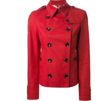 Burberry Brit Dukesby Jacket coat military red US 8
