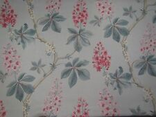 "SANDERSON CURTAIN FABRIC DESIGN ""Chestnut Tree"" 3.5 METRES SEASPRAY/PEONY 350 CM"