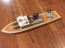 Vintage Keystone US Navy Rocket Ship Antique Wooden Metal Toy