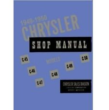 Factory Shop - Service Manual for 1949-1950 Chrysler