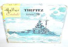 Heller Cadet France Kit 1:2000 WWII German TIRPITZ BATTLE CRUISER SHIP MIB`70!
