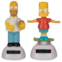 Simpsons Figures Set Of 2 Homer and Bart Springfield World Solar Powered Heroes
