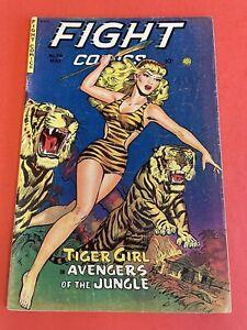 FIGHT COMICS # 74 (1951)  FICTION HOUSE  - GOLDENAGE COMIC BOOK - JUNGLE COVER