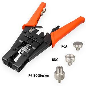 Kompressionszange Crimpzange für F Stecker IEC BNC RCA CINCH Kompressionsstecker