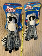 Jakks Pacific - Paw Doodles Squeakies - Raccoon Dog Toy with squeakers & ball