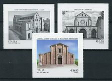 Italy 2017 MNH Cultural Heritage 3v S/A Set Churches Architecture Stamps