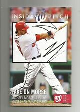 Washington Nationals Inside Pitch Volume 4 Issue 7 2011 MICHAEL MORSE W/CARDS