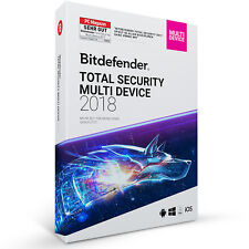 Bitdefender Total Security 2018 Multi-Device 5 Geräte PC - inkl. VPN