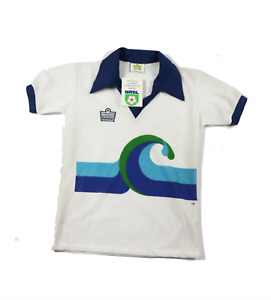 NOS Vintage 80s Admiral Youth Large California Surf Soccer Jersey NASL White