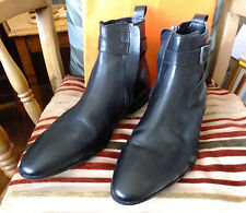 Mens leather zip Chelsea ankle boots 9
