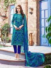 Cambric Cotton Printed Suit With Chiffon Lace Dupatta